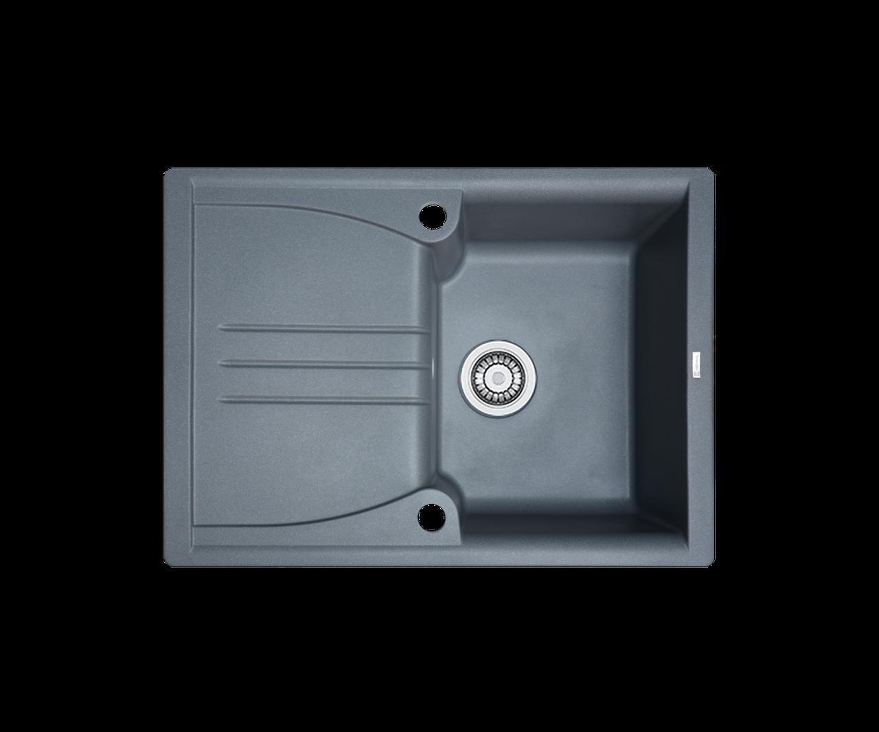 Кухонна мийка гранітна Borgio PRA-680x500 сірий металік