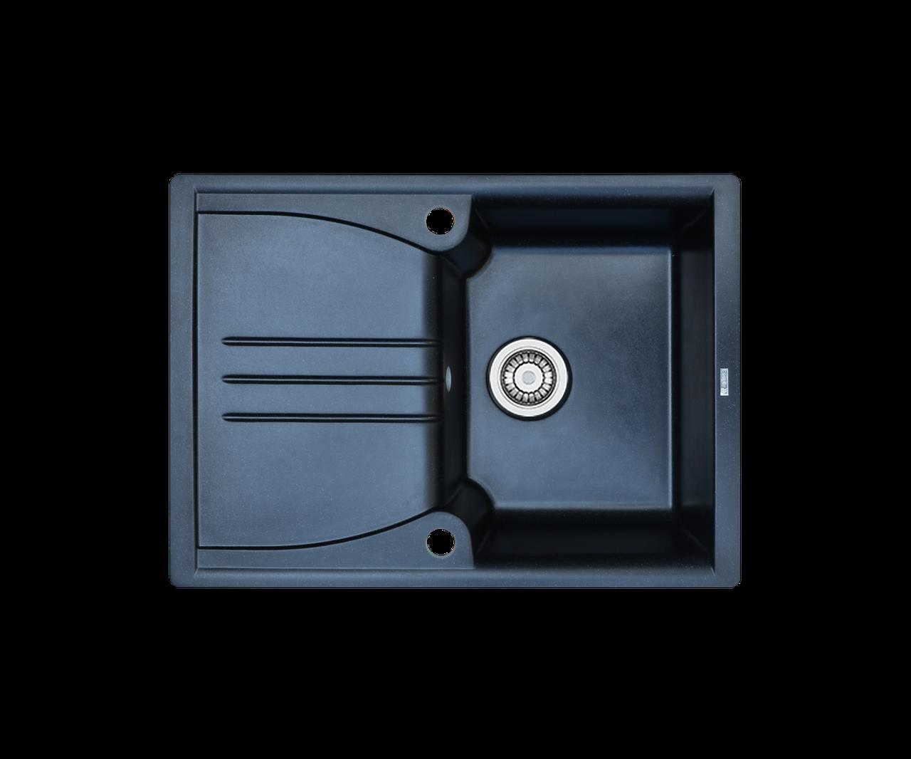 Кухонна мийка гранітна Borgio PRA-680x500 чорний