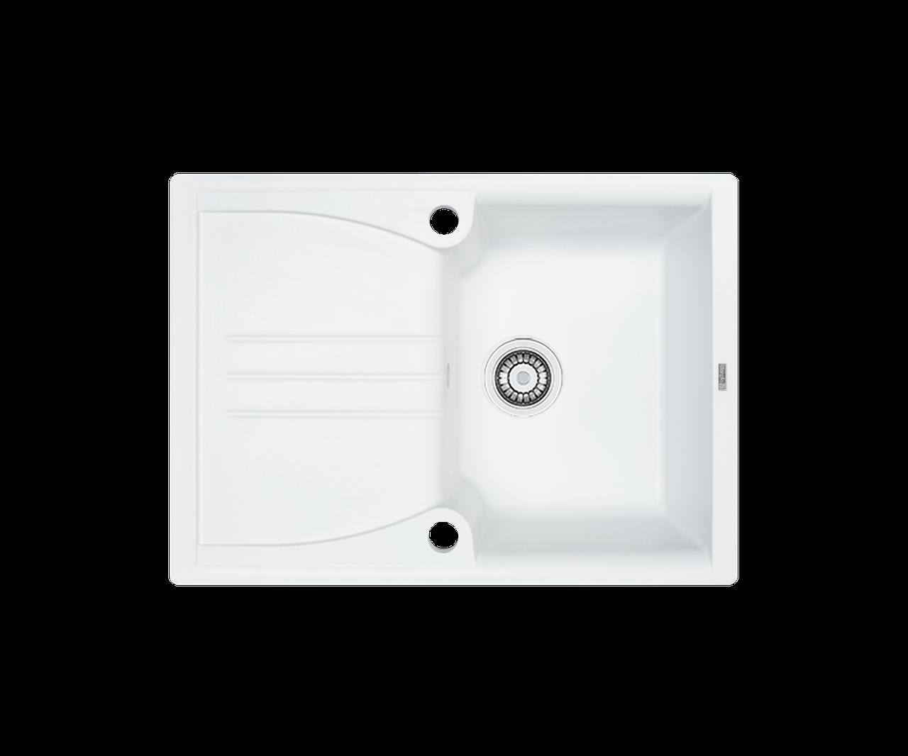 Кухонна мийка гранітна Borgio PRA-680x500 білий
