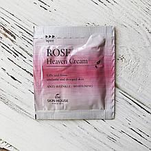 Пробник Омолаживающий крем с экстрактом розы The Skin House Rose Heaven Cream, 2 мл