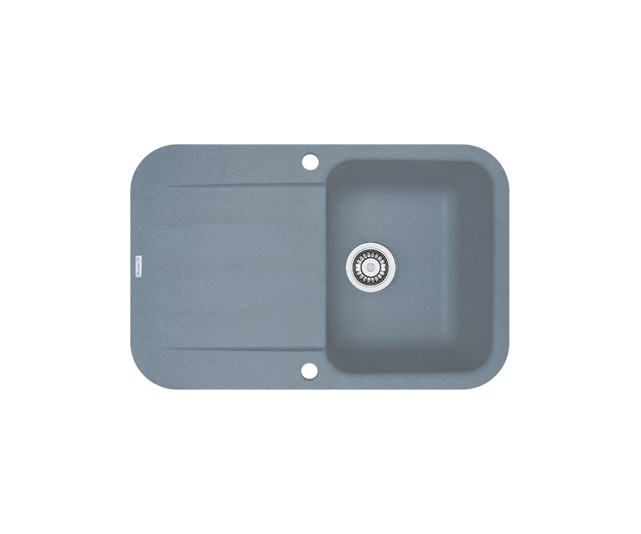 Кухонна мийка гранітна Borgio PRO-780x500 сірий металік