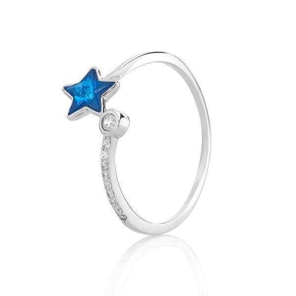 Серебряное кольцо безразмерное со стеклом минеральным