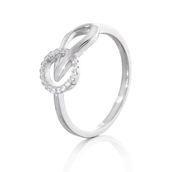 Срібне кільце з цирконієм