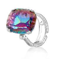 Серебряное кольцо с мистик кварцем - радужным