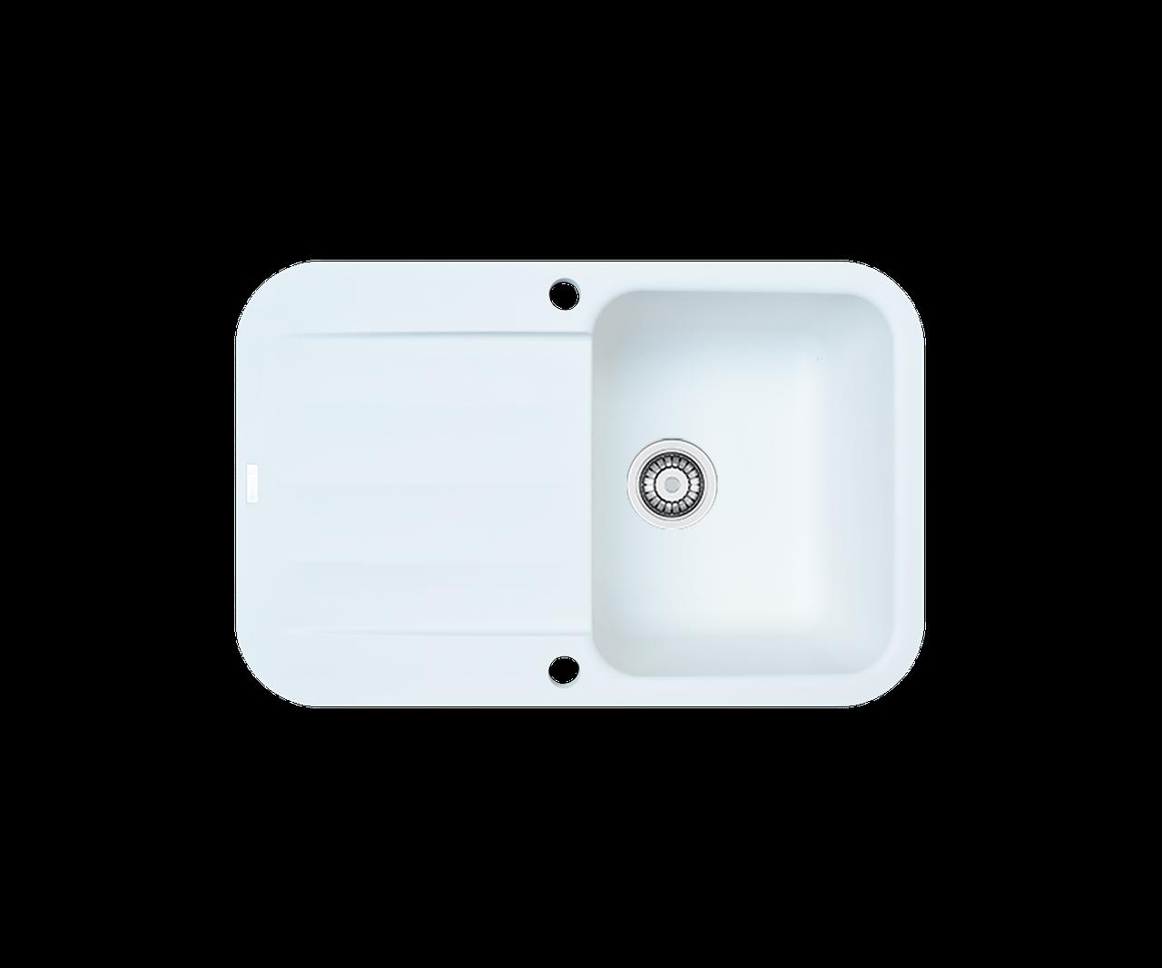 Кухонна мийка гранітна Borgio PRO-780x500 білий