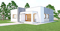 MS-031. Проект одноэтажного жилого дома в современном стиле.