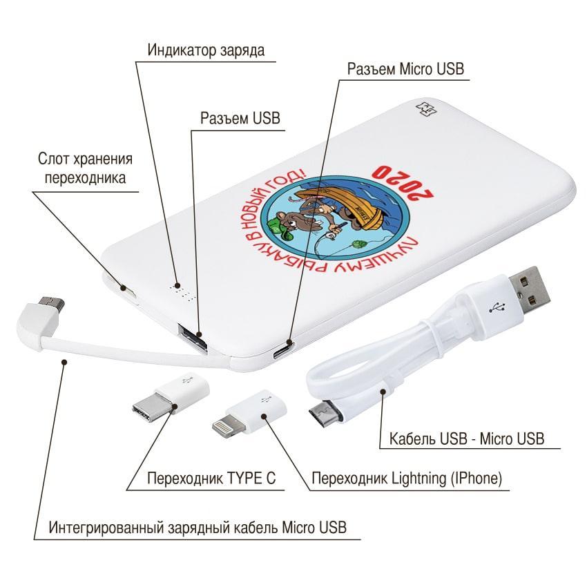 Универсальная батарея с принтом Лучшему рыбаку, 5000 мАч (E505-42)