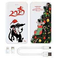 Портативная мобильная батарея Новогодняя елка, 5000 мАч (E505-41)