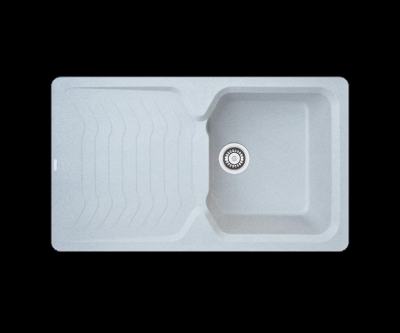 Кухонна мийка гранітна Borgio PRT-860х500 сірий камінь