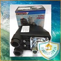 Механическое реле давления ITALTECNICA PM/5G (Оригинал, Италия). Реле давления насосной станции. Реле давления