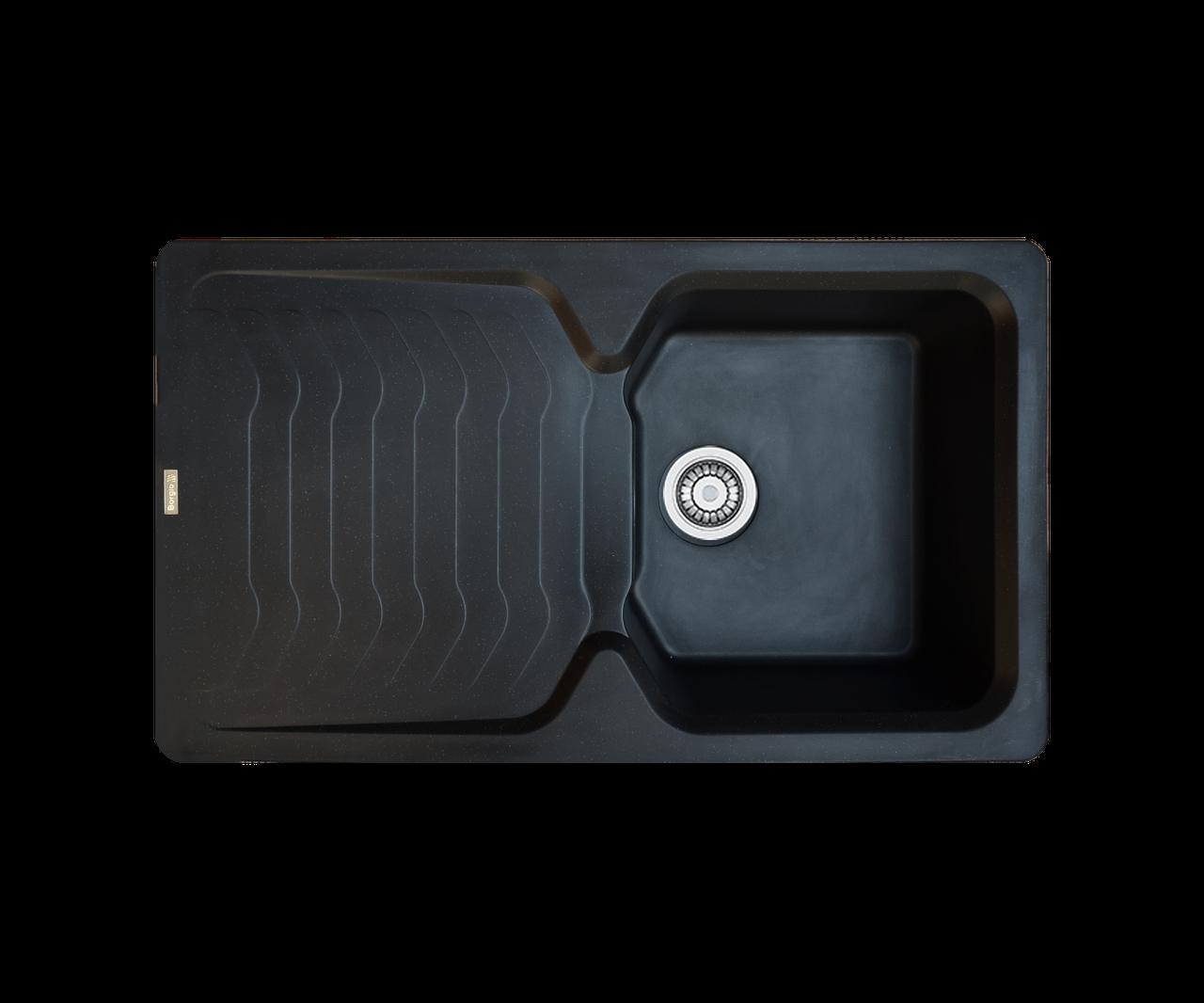 Кухонна мийка гранітна Borgio PRT-860х500 чорний