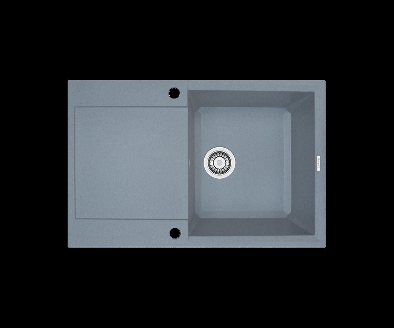 Кухонна мийка гранітна Borgio PRH-790x500 сірий металік