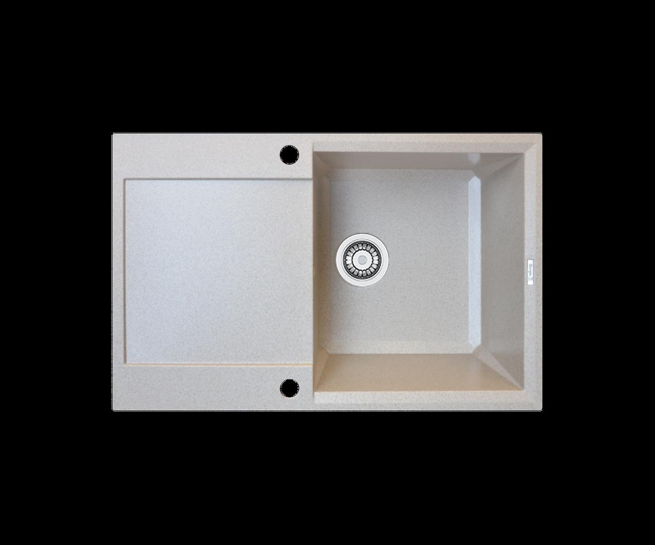 Кухонна мийка гранітна Borgio PRH-790x500 мигдаль