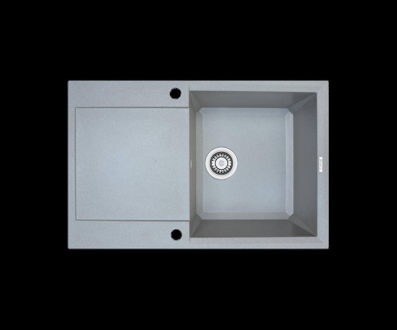 Кухонна мийка гранітна Borgio PRH-790x500 сірий камінь