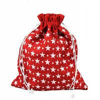 Новогодний мешок Звездочки 22 см. х 30 см.