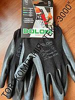 Рукавички трикотажні з латексним покриттям Doloni № 4190, фото 1