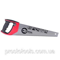 Ножовка по дереву 400 мм с каленым зубом ,3-ая  заточка Intertool  HT-3104