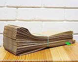 Крафт пакет бумажный 100х230х40 мм, 100 шт, фото 2