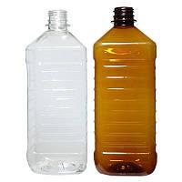 ПЭТ Бутылка квадратная 1л. Ø 28 мм.