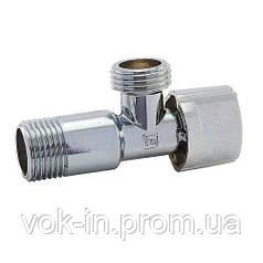 """FADO NEW Приборный угловой шаровый кран 1/2""""х3/4"""" (KZ02)"""