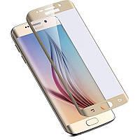 Защитное стекло 0.3 mm с изогнутыми краями для Samsung Galaxy S6 edge Gold
