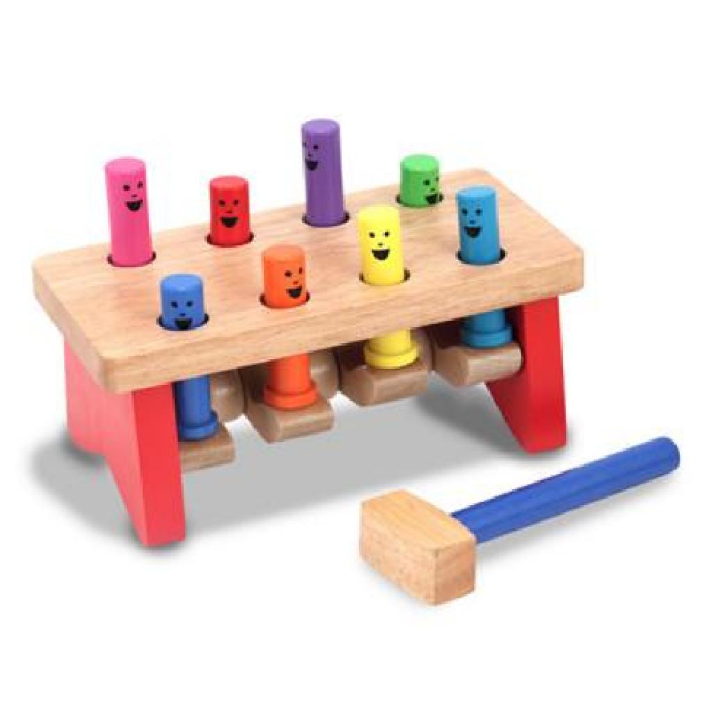 Развивающая игрушка Melissa&Doug Забить в лунки (MD4490)