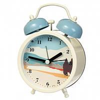"""Часы-будильник """"Живописные пейзажи"""" (11*8.5*5 см) *рандомный выбор дизайна, 014AK"""