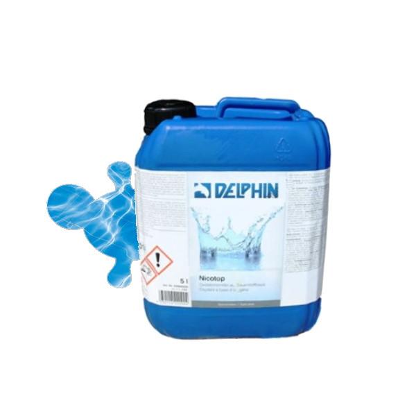 Немецкая перекись водорода Delphin Nicotop* 10 литров. Средство обеззараживания воды в бассейне без хлора