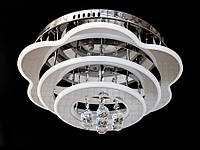 Светодиодная потолочная люстра с хрустальными подвесками с пультом A5045-450, фото 1
