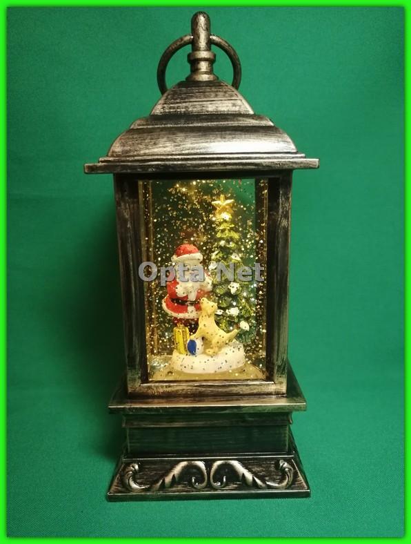 Декоративный рождественский фонарь Santa