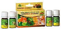 """Набор натуральных масел для сауны и бани """"Семейная банька"""" (сосна,апельсин, лайм,иланг)"""