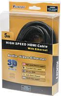 Кабель HDMI-> HDMI 5.0 m Viewcon (VC-HDMI-160-5m) Black