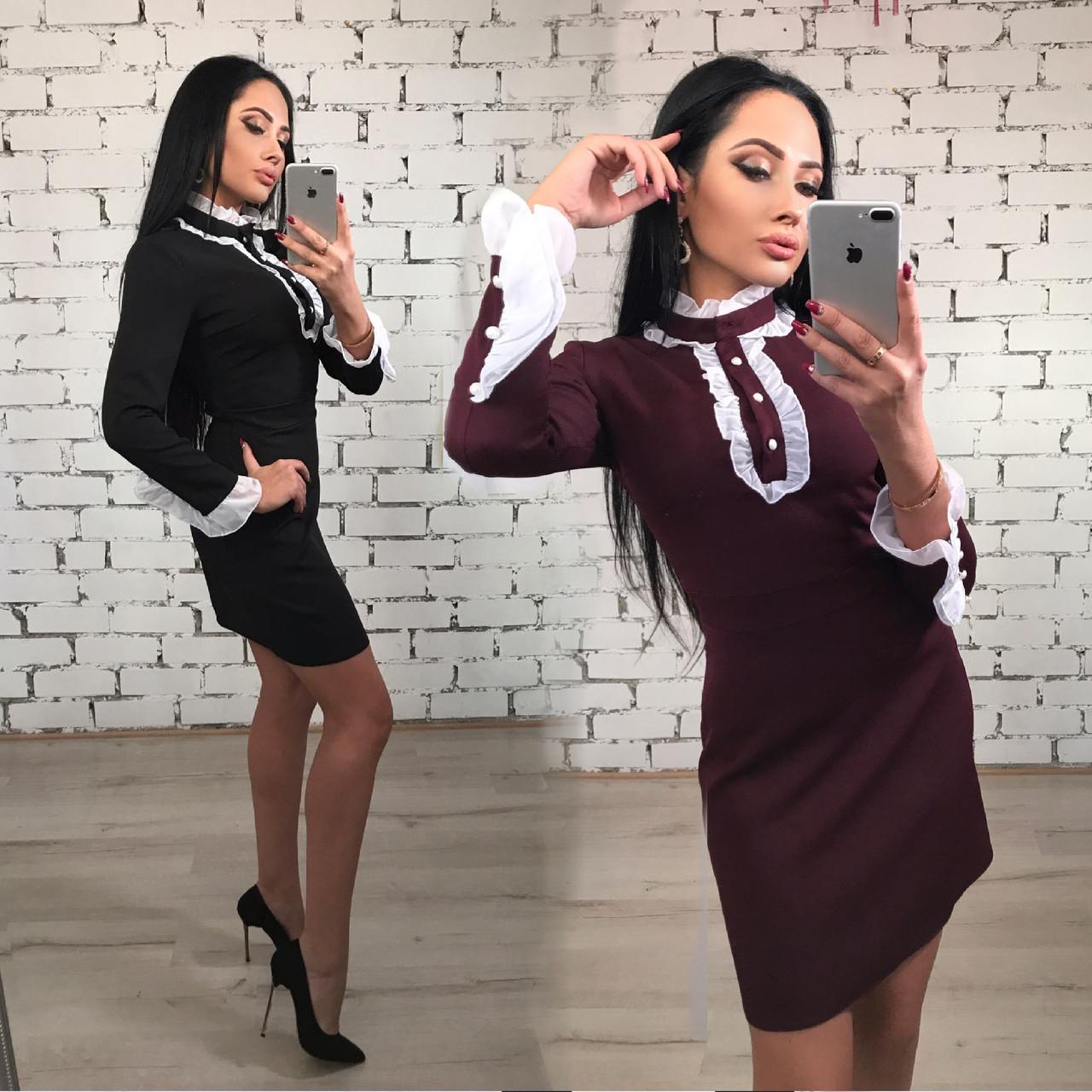 Платье короткое женское Анжелика /разные цвета, 42-46, ft-395/