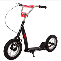 Самокат для детей и взрослых Scooter с ручным тормозом на резине разные цвета