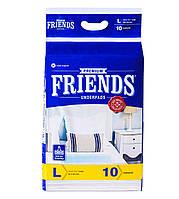 Пелюшки 90х60см 10шт одноразові Friends Premium