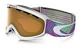 Гірськолижна маска дитяча Oakley O2 XS Geo Chaos Neon Pink/Persimmon Ski goggles, фото 4