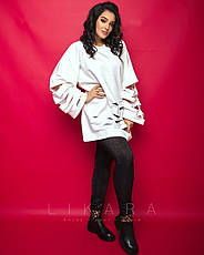 Женская кофта большого размера с начесом, фото 2