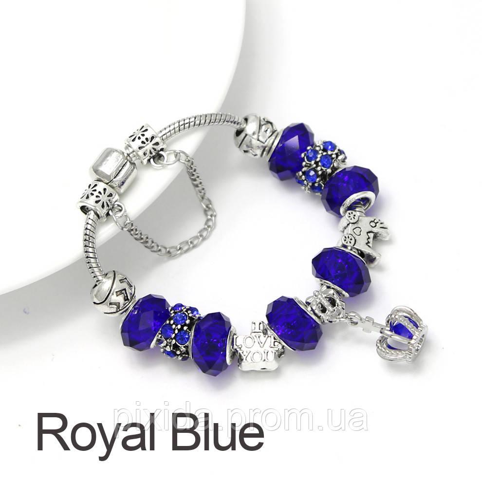 Браслет Pandora style. Серия корона. Различные цвета
