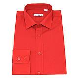 Красная полуприталенная рубашка для мужчины, фото 2