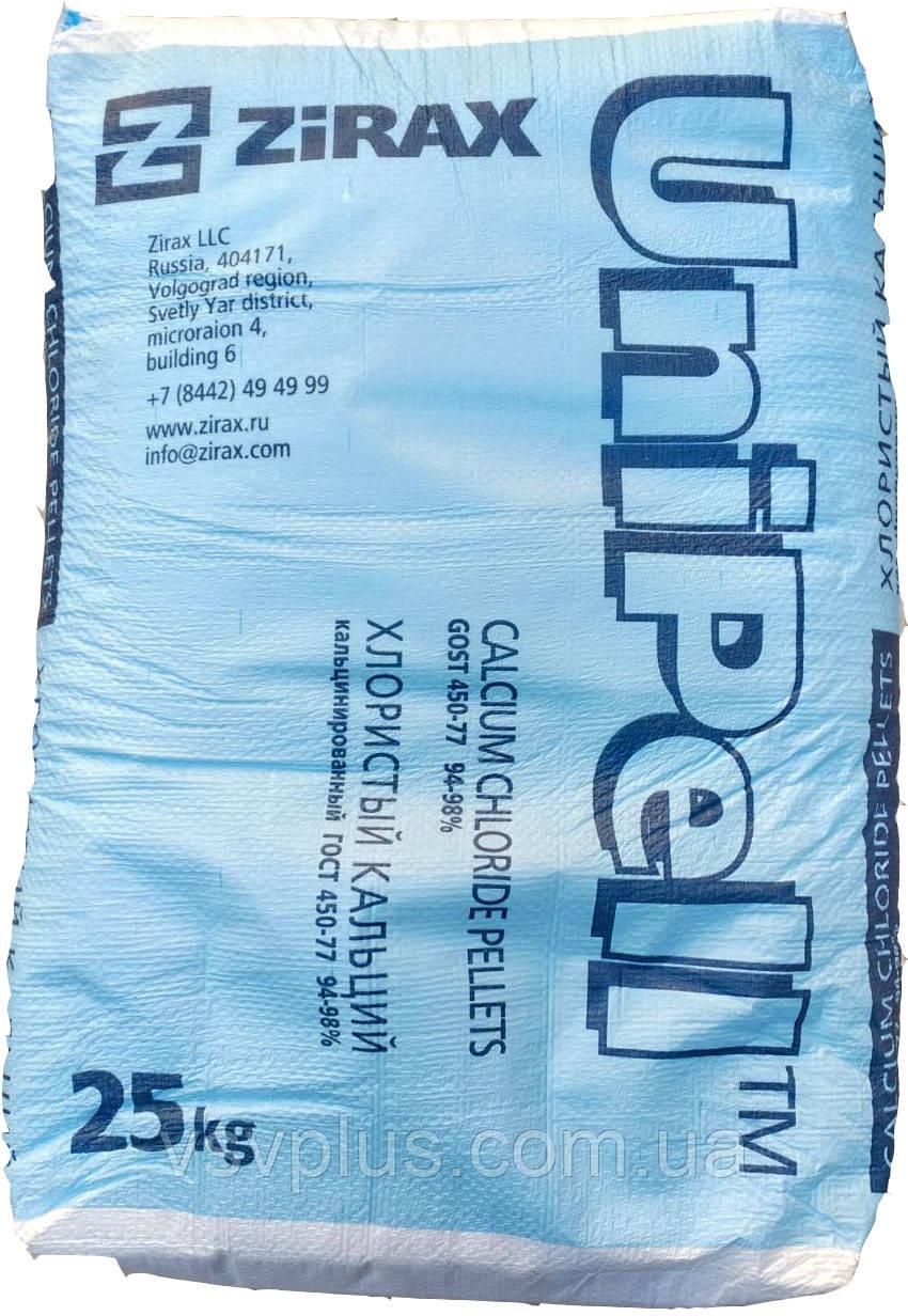 Ускоритель твердения Кальций хлористый UniPell Zirax сухой 25 кг