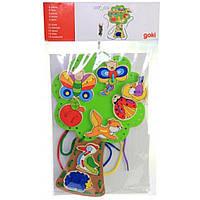 Развивающая игрушка Goki Шнуровка Обитатели леса (58945)