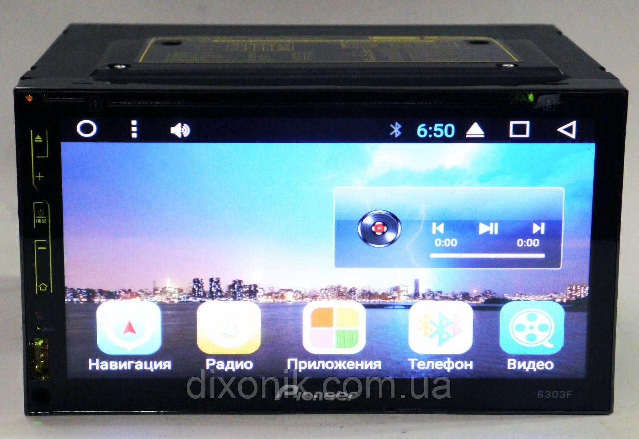 "Автомагнитола пионер Pioneer 6303 GPS 7"" DVD Android 4 ядра 1/16 Гб"