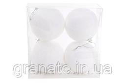 Набор елочных шаров 8см, цвет - белый