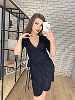Женское платье люрекс трикотаж на запахе