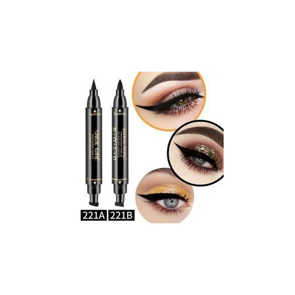 Двусторонняя подводка штамп snail girl eyeliner для идеальной стрелки, штамп для стрелки