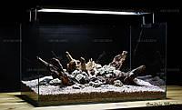 Композиция из Мопани и камней для аквариума