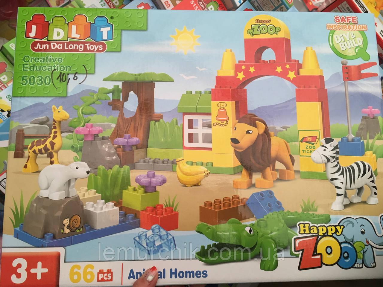 Конструктор JDLT 5030 Зоопарк - аналог Lego Duplo, 66 дет