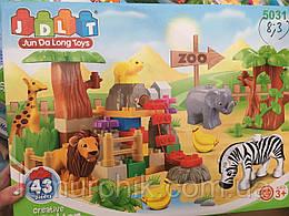 Конструктор JDLT 5031 Зоопарк - аналог Lego Duplo, 43 дет