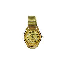 Часы мужские кварцевые YaWeiSi  на  браслете резинка под золото