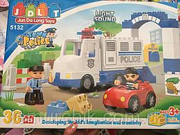 Конструктор JDLT 5132 Полицейский участок - аналог Lego Duplo, 36 дет